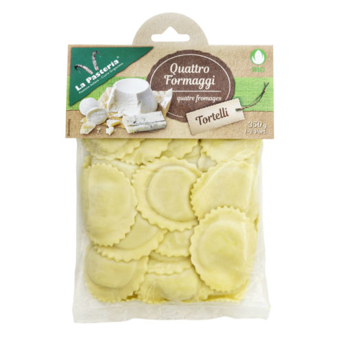 Tortellinis aux quatre fromages bio
