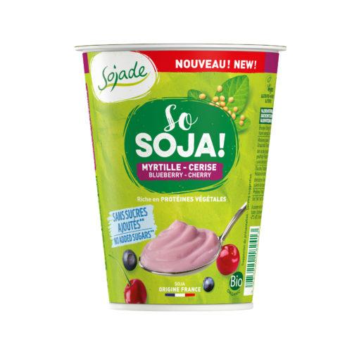 Sojade Myrtille Cerise sans sucre ajoute bio