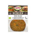Burger végétarienne lentille rouge bio