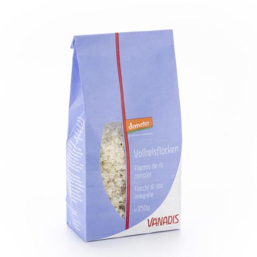 Flocons de riz complet bio