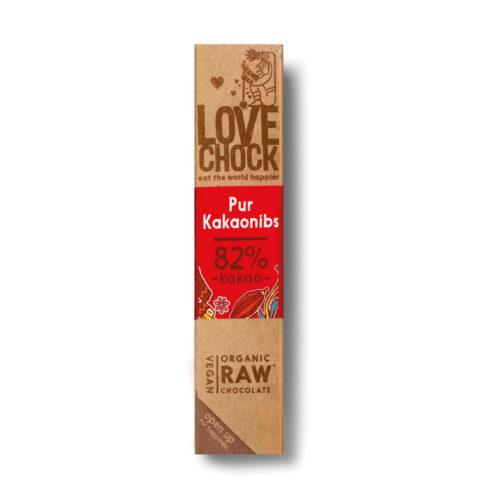 Barre de chocolat cru aux éclats de cacao bio