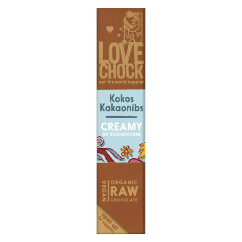 Barre de chocolat creamy cocos-pépites de cacao bio