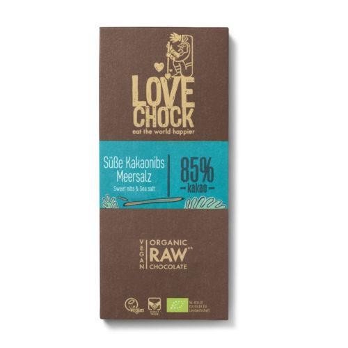 Chocolat cru aux éclats de cacao et sel marin 86% bio