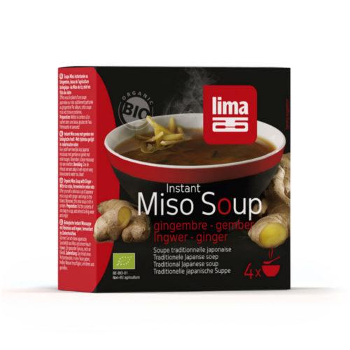Soupe Miso instant gingembre bio