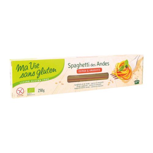 Spaghetti des Andes tricolores, sans gluten bio