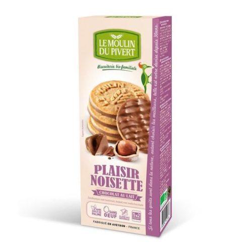 Biscuits noisettes choc lait Pivert
