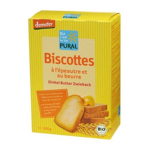 Biscottes à l'épeautre et beurre Demeter Pural