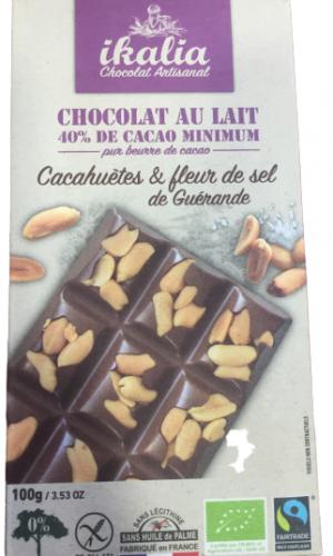 Tablette chocolat au lait Ikalia