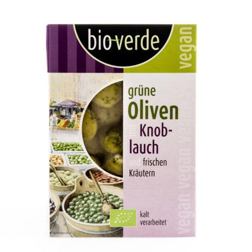 Olives vertes à l'ail