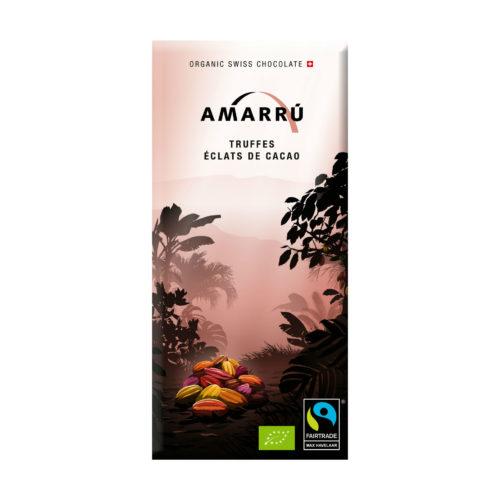 Chocolat noir bio 55% aux éclats de cacao