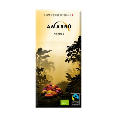 Chocolat noir bio 55% aux amandes