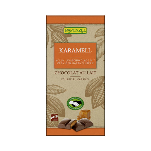 Chocolat au lait entier fourré au caramel, HiH