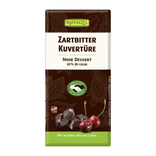 Couverture chocolat noir bio HIH