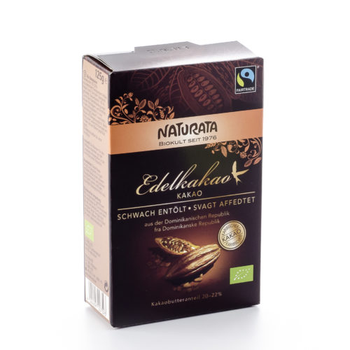 Cacao fin fortement dégraissé bio, teneur en beurre de cacao 20-22%