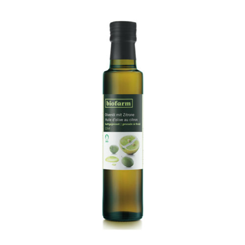 Huile d'olive au citron, bourgeon bio