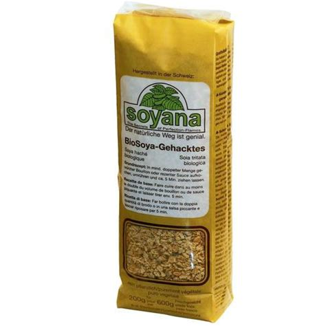 Protéine de soya hachées, naturelles bio