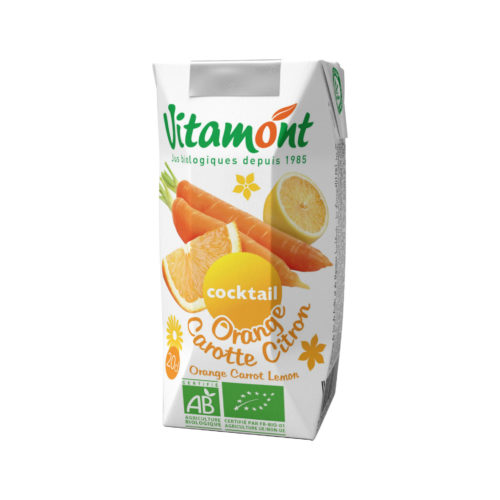 Jus orange-carotte-citron pur bio