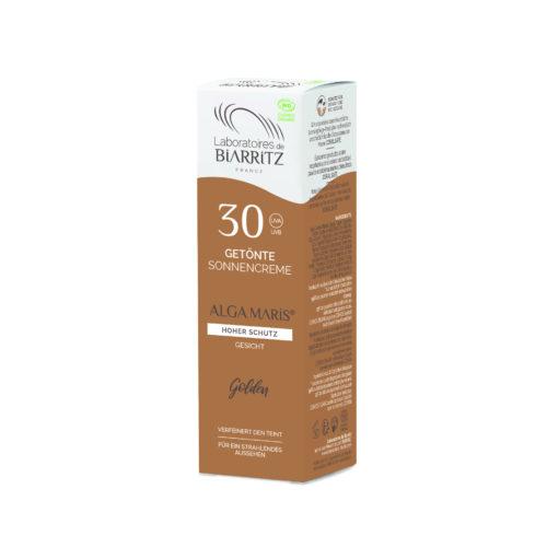 Crème solaire Visage teintée dorée SPF30